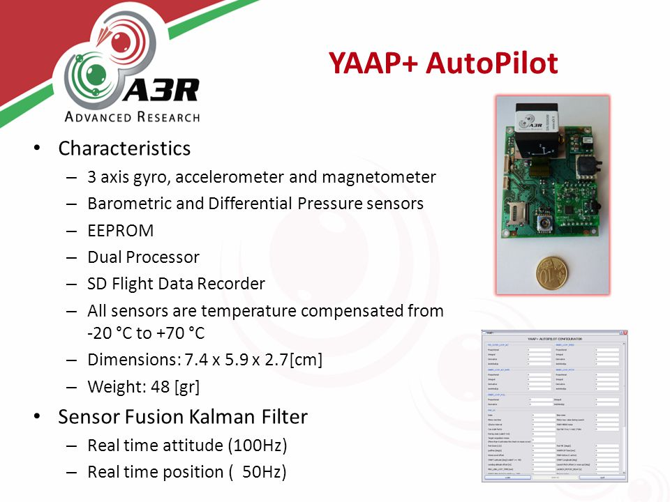 YAAP+ AutoPilot Characteristics Sensor Fusion Kalman Filter
