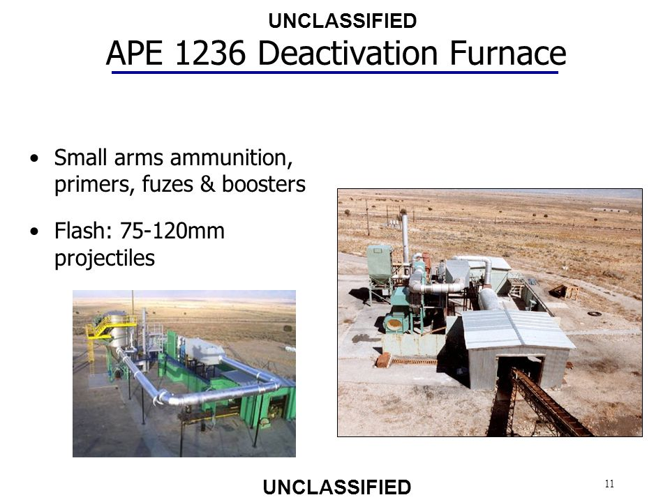 APE 1236 Deactivation Furnace