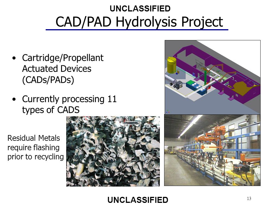 CAD/PAD Hydrolysis Project