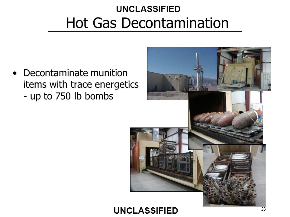 Hot Gas Decontamination