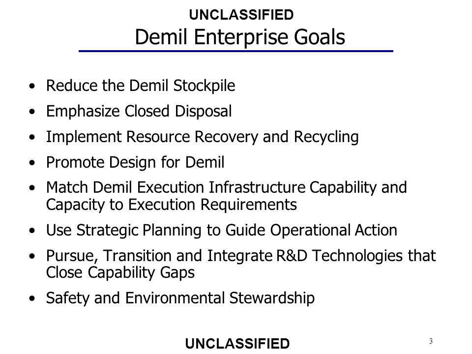 Demil Enterprise Goals