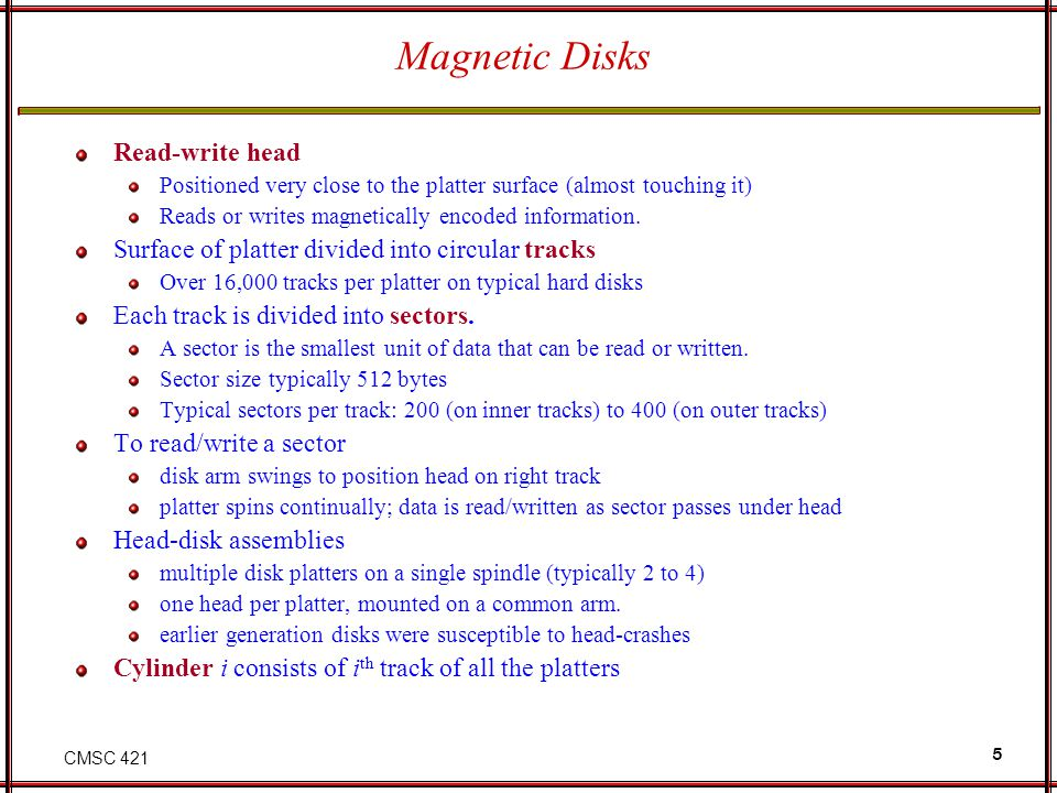 Magnetic Disks Read-write head