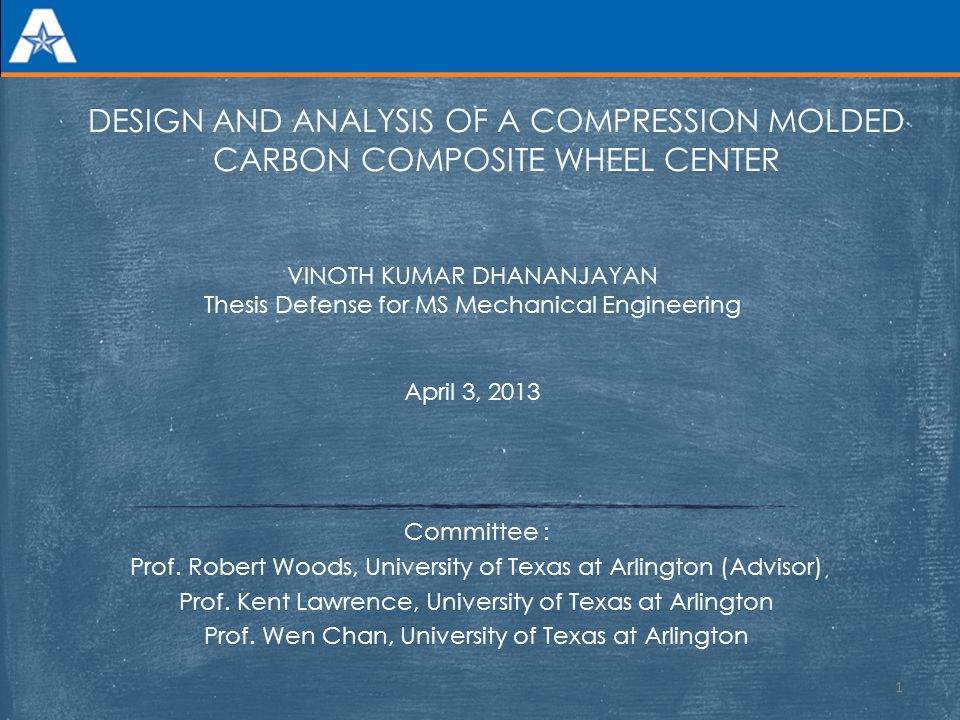 DESIGN AND ANALYSIS OF A COMPRESSION MOLDED CARBON COMPOSITE WHEEL CENTER