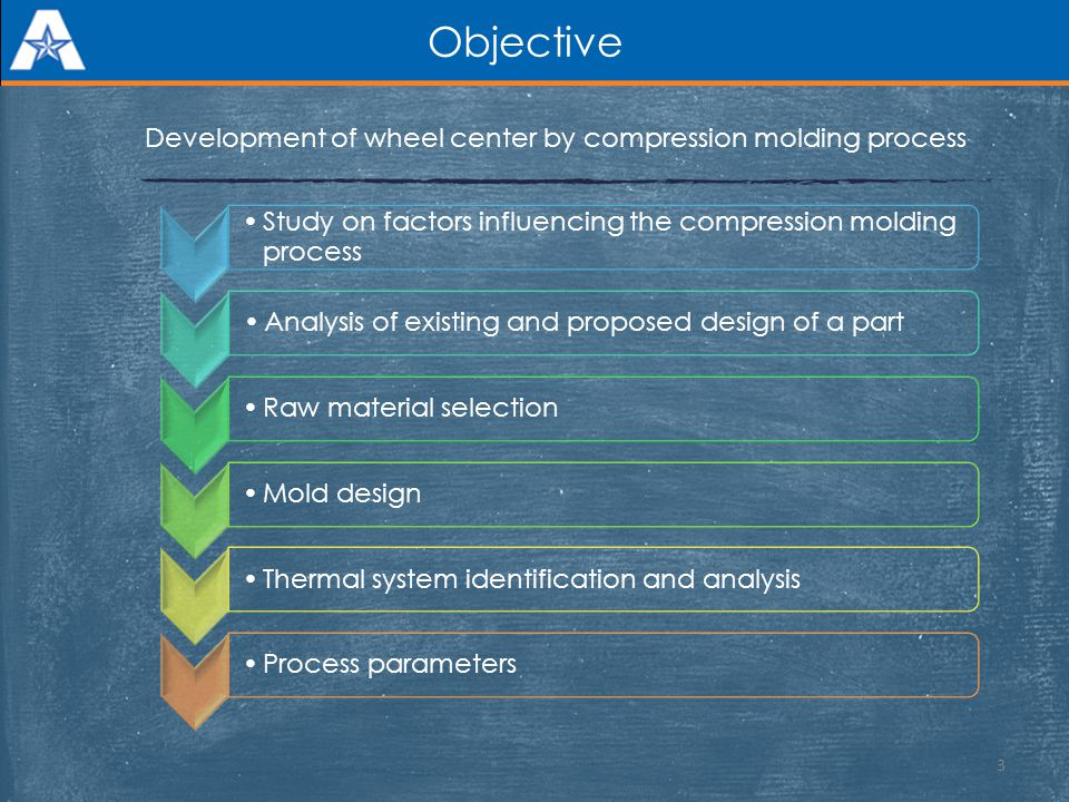 Objective Development of wheel center by compression molding process