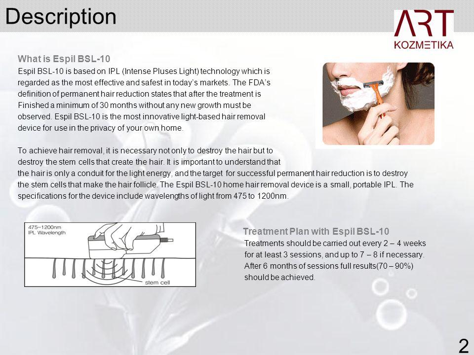 Description 2 What is Espil BSL-10 Treatment Plan with Espil BSL-10