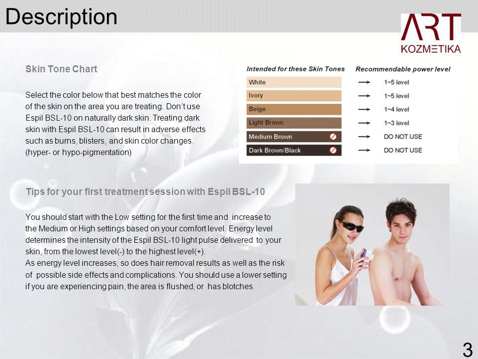 Description 3 Skin Tone Chart
