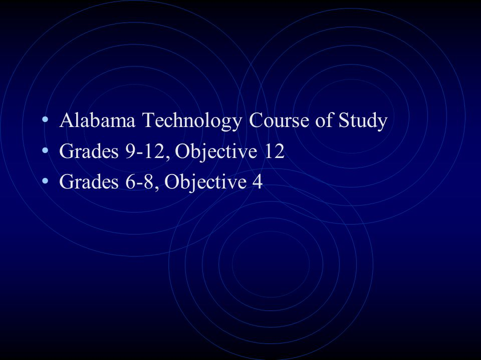 Alabama Technology Course of Study