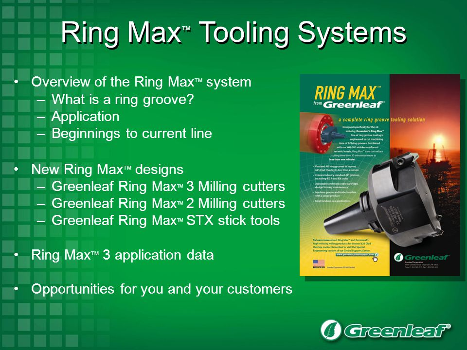 Ring Max™ Tooling Systems