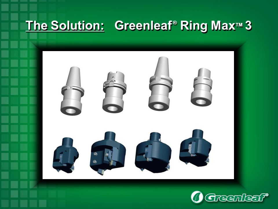 The Solution: Greenleaf ® Ring MaxTM 3