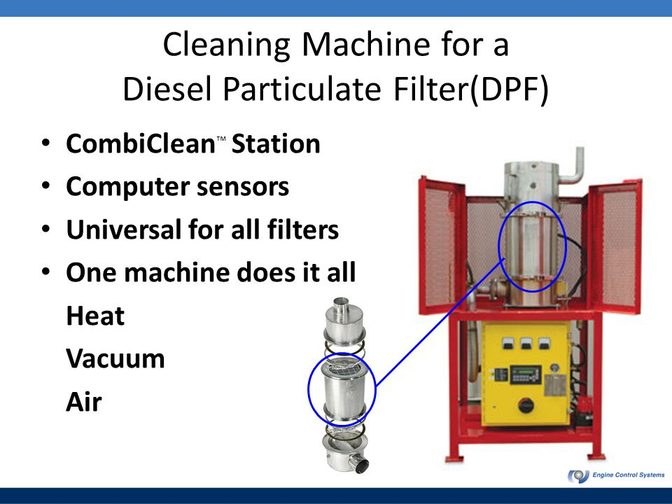 Cleaning Machine for a Diesel Particulate Filter(DPF)
