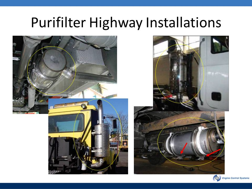 Purifilter Highway Installations