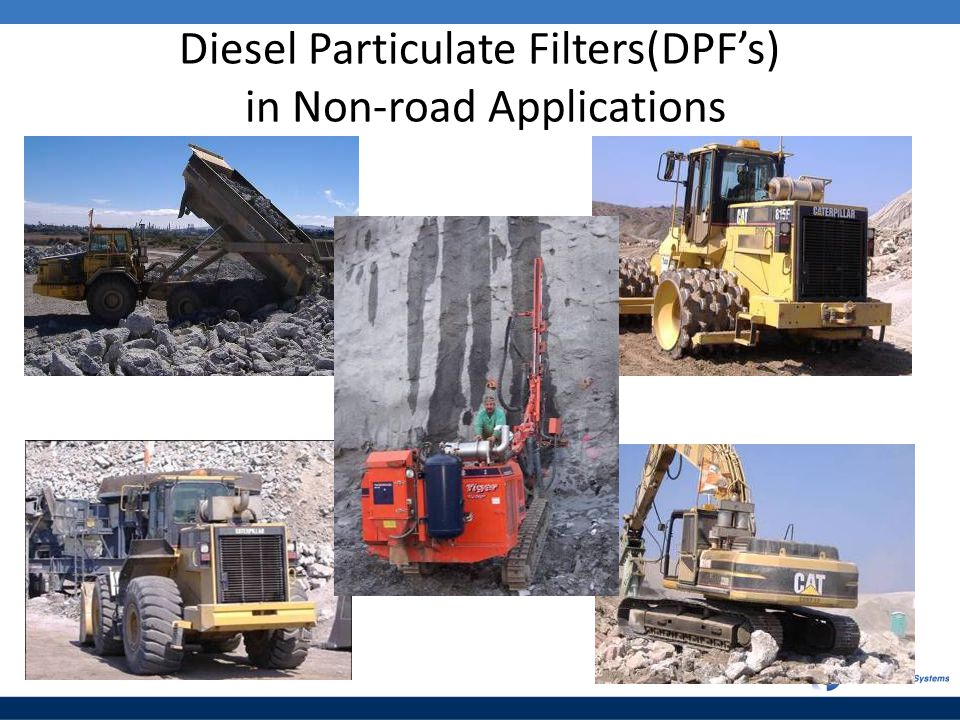 Diesel Particulate Filters(DPF's) in Non-road Applications