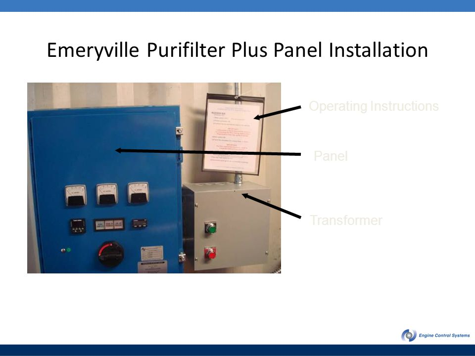 Emeryville Purifilter Plus Panel Installation