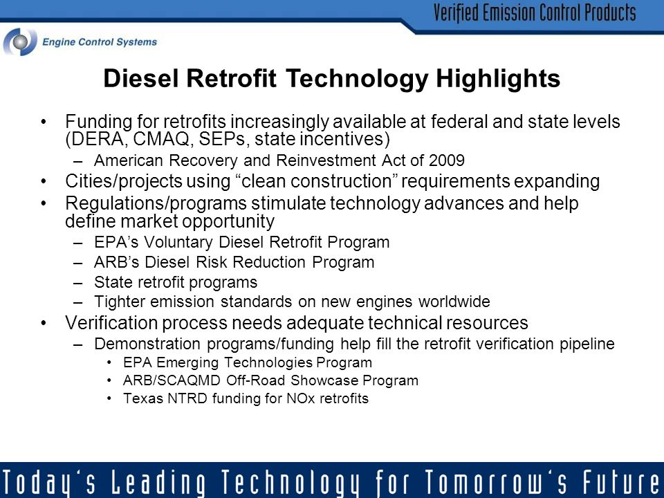 Diesel Retrofit Technology Highlights