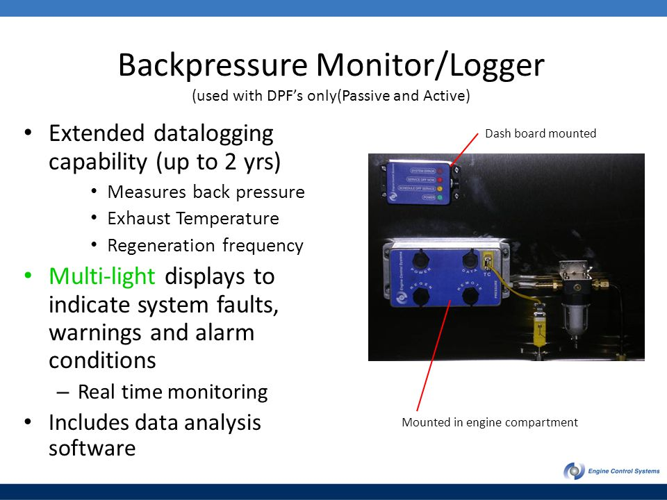 Backpressure Monitor/Logger (used with DPF's only(Passive and Active)