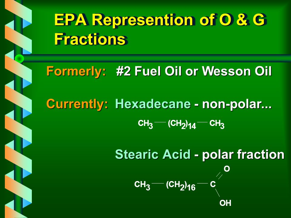 EPA Represention of O & G Fractions