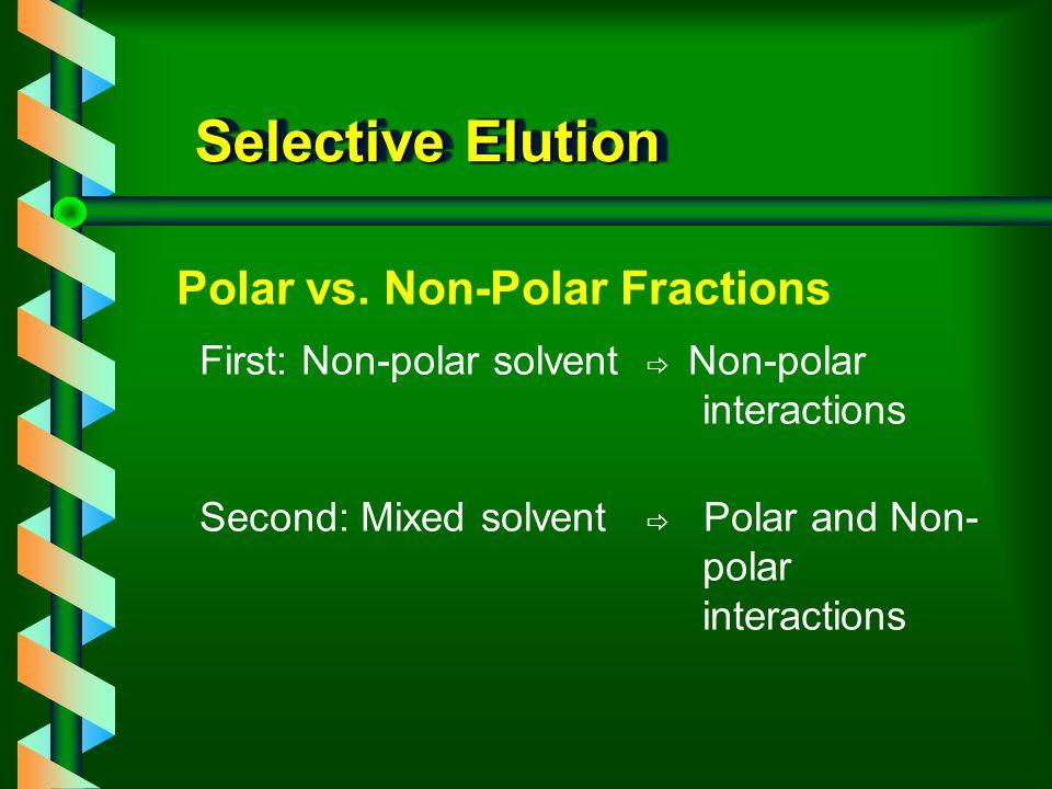 Selective Elution Polar vs. Non-Polar Fractions