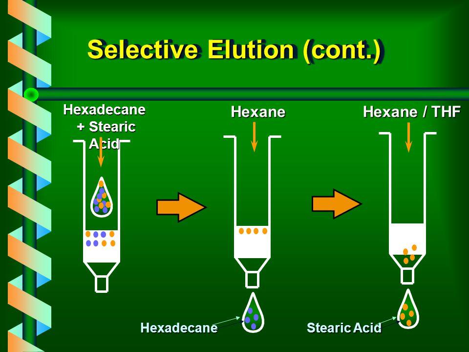 Selective Elution (cont.)