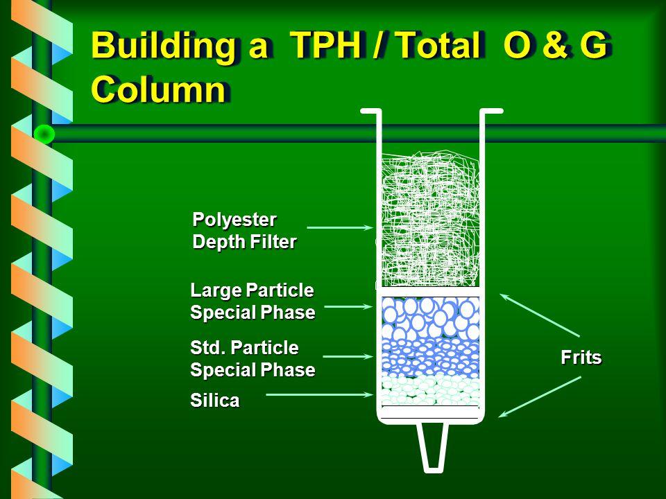 Building a TPH / Total O & G Column