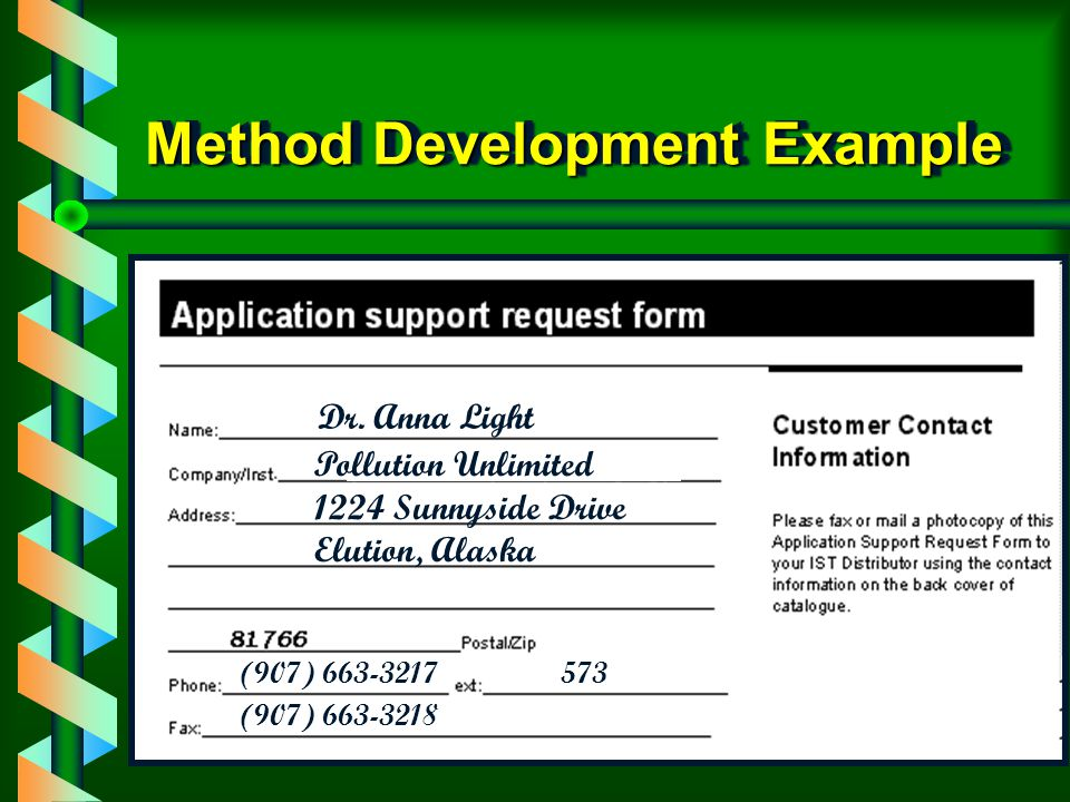 Method Development Example