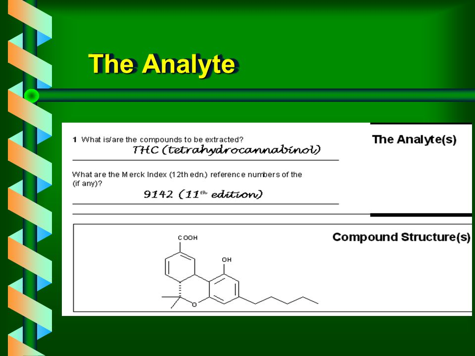 The Analyte