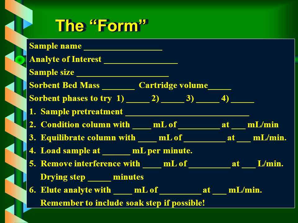 The Form Sample name _________________