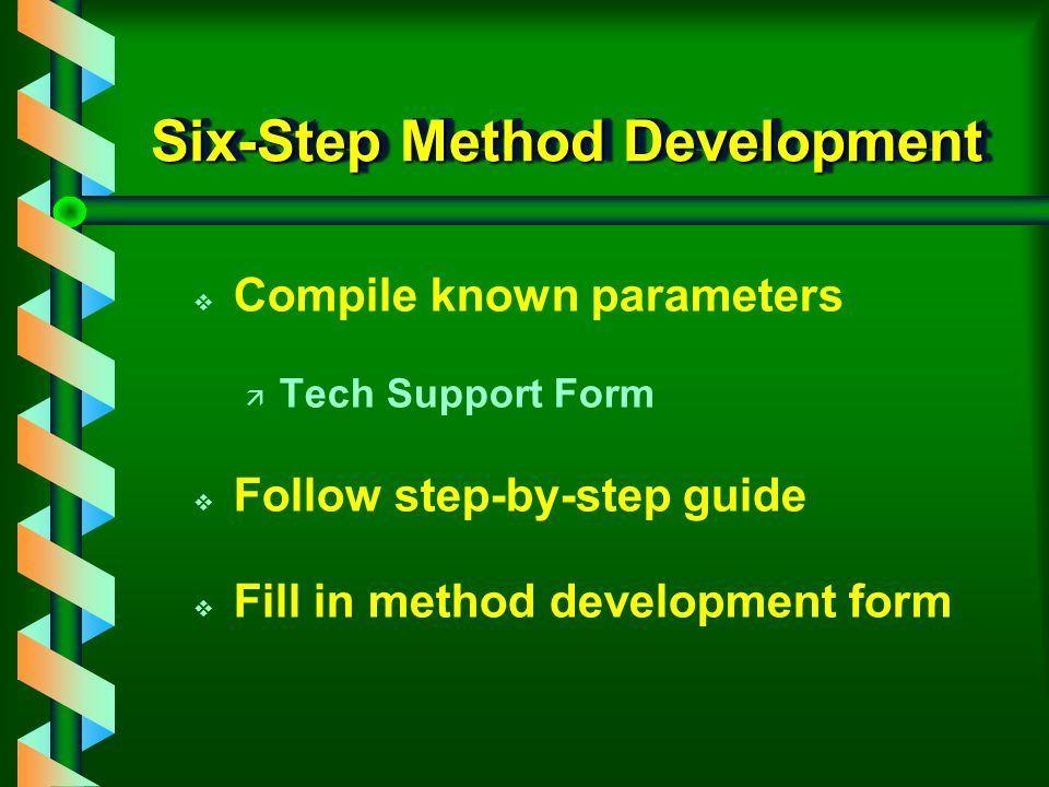 Six-Step Method Development