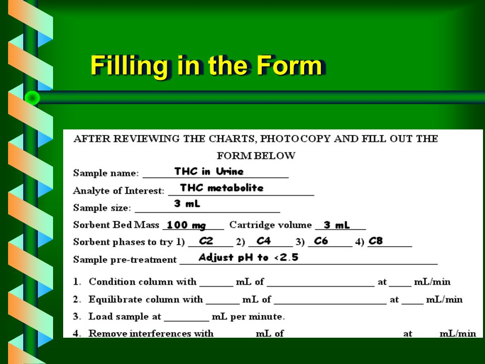 Filling in the Form