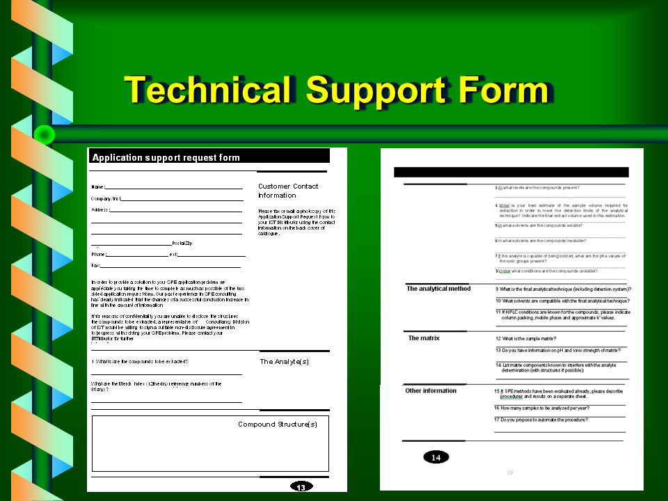 Technical Support Form