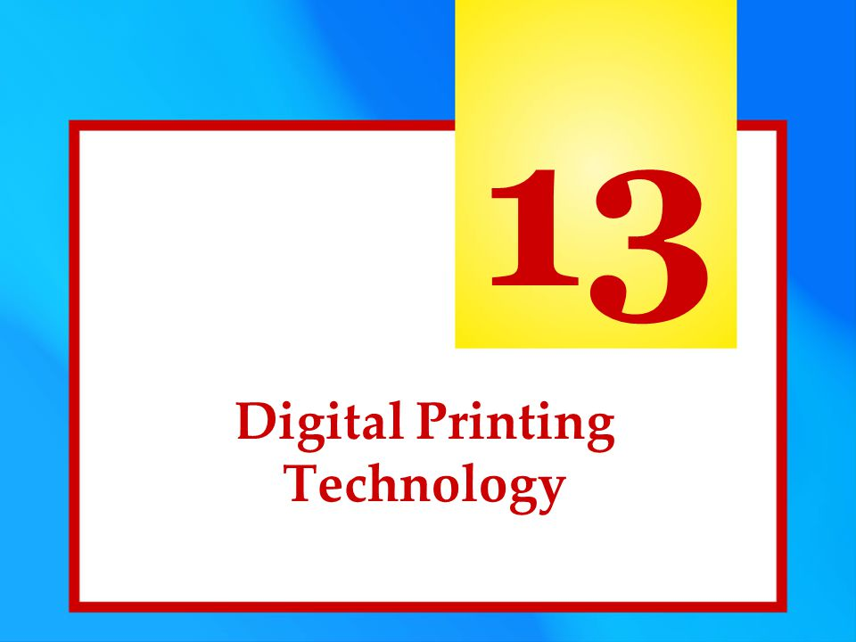 Digital Printing Technology