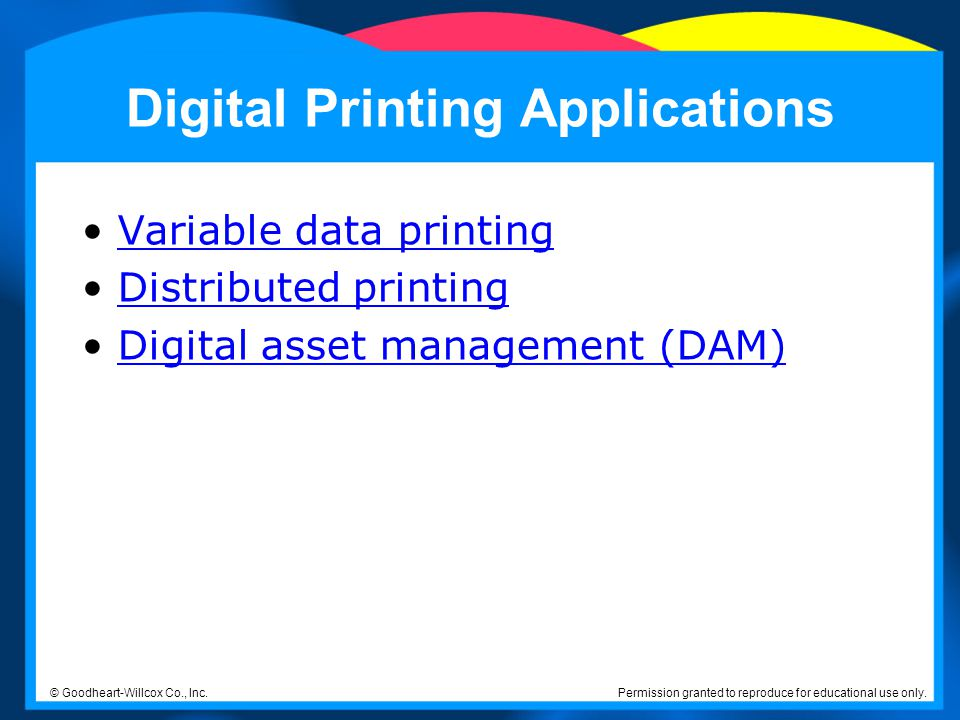 Digital Printing Applications