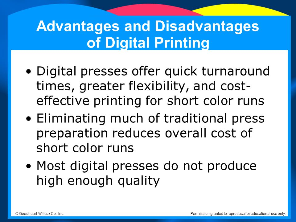 Advantages and Disadvantages of Digital Printing