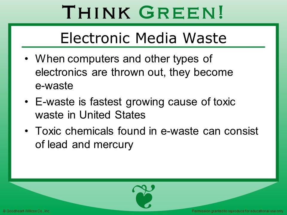 Electronic Media Waste
