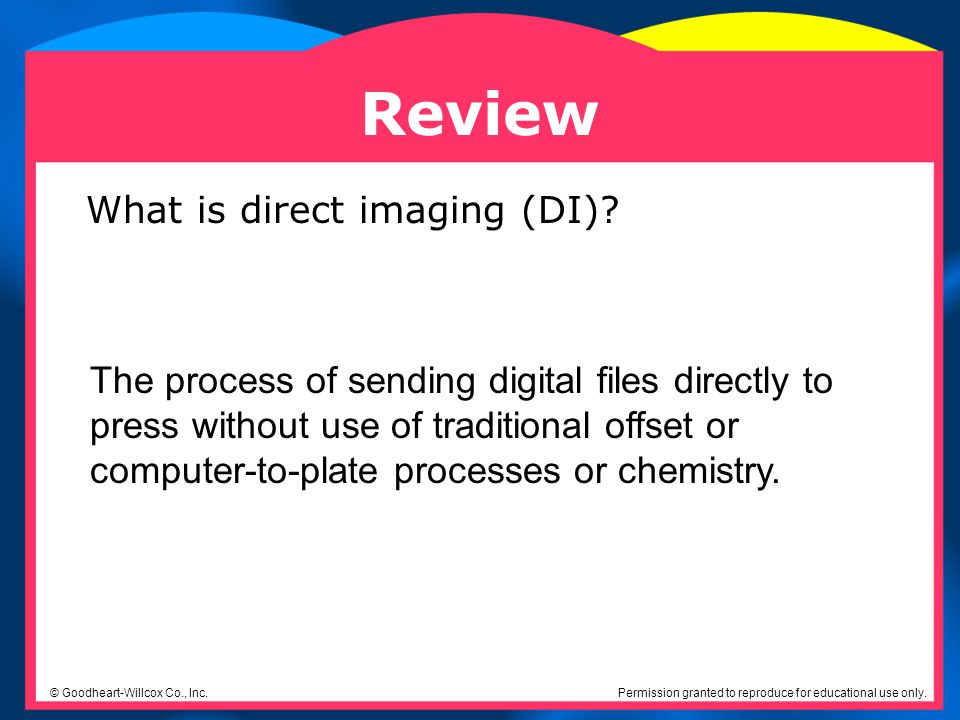 Review What is direct imaging (DI)
