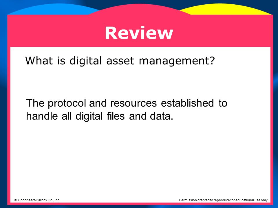 Review What is digital asset management