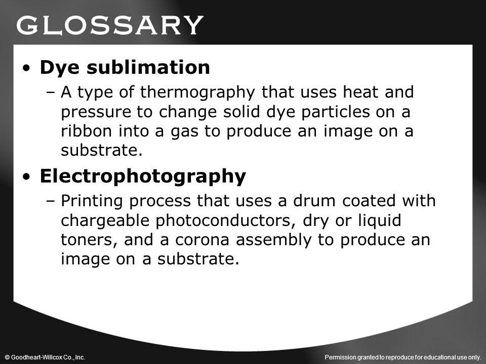 Dye sublimation Electrophotography