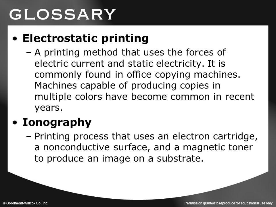 Electrostatic printing