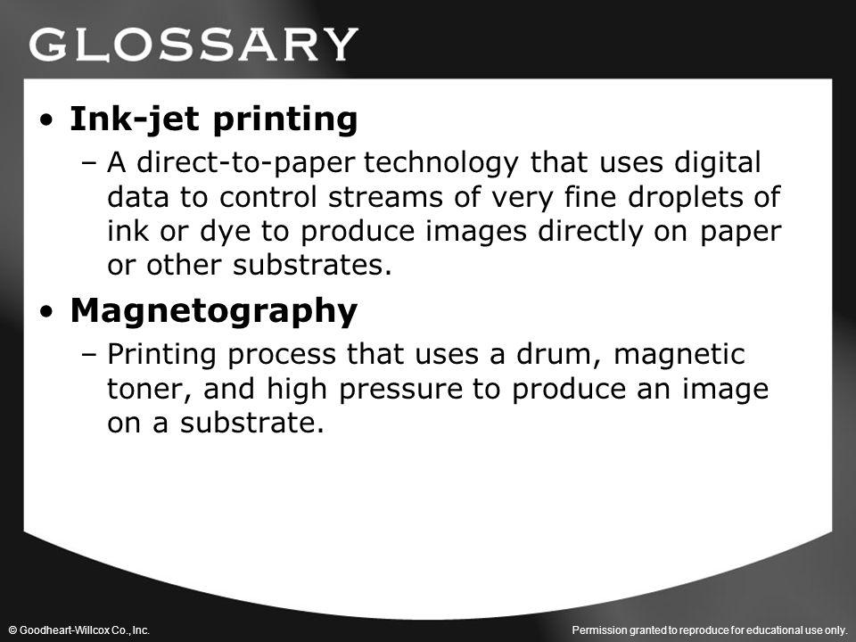 Ink-jet printing Magnetography