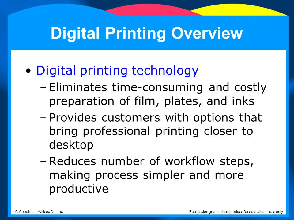 Digital Printing Overview