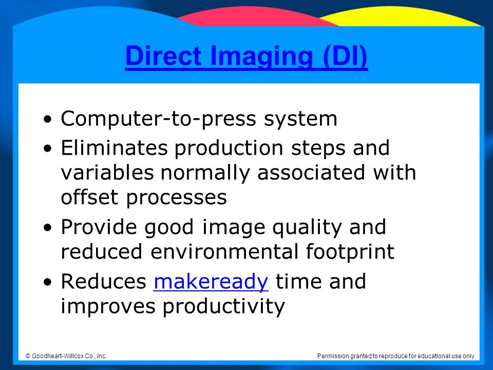 Direct Imaging (DI) Computer-to-press system