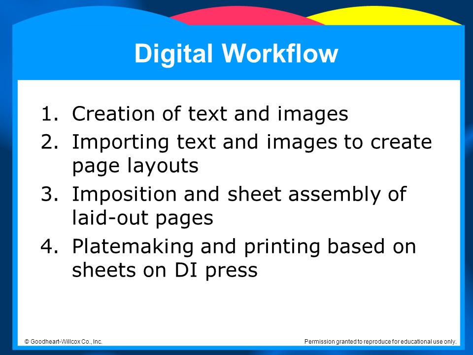Digital Workflow Creation of text and images