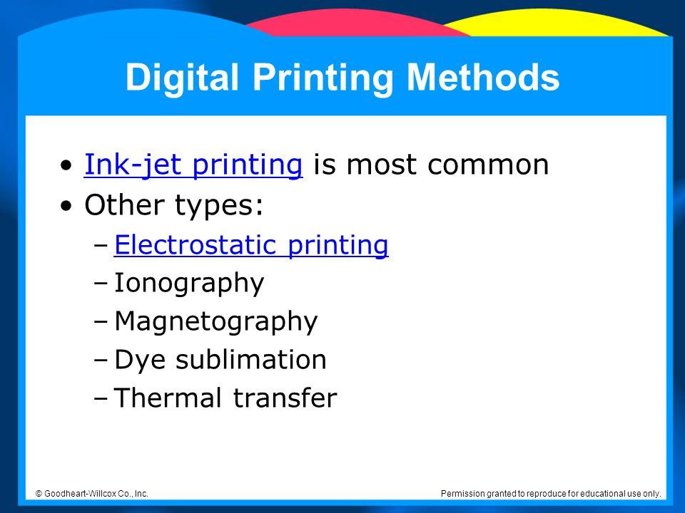 Digital Printing Methods