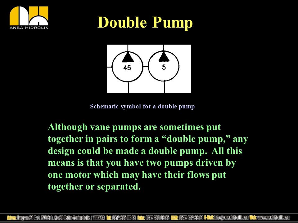 Double Pump Schematic symbol for a double pump.