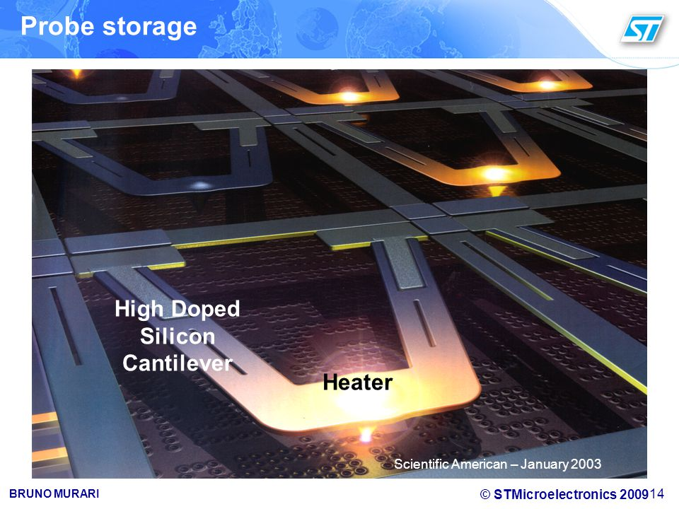 Probe storage High Doped Silicon Cantilever Heater
