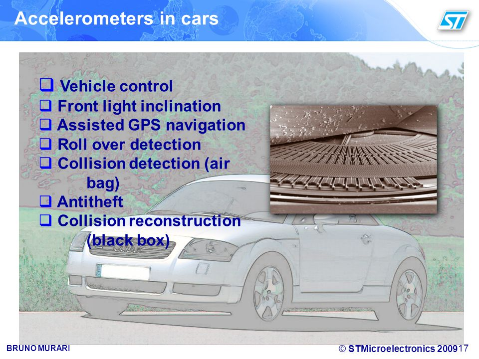 Accelerometers in cars