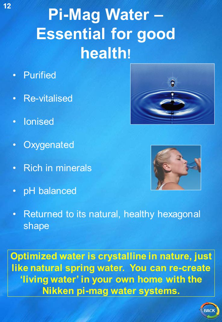 Pi-Mag Water – Essential for good health!