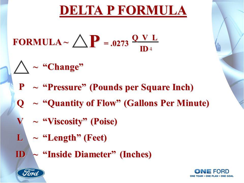 P DELTA P FORMULA FORMULA ~ ~ Change P