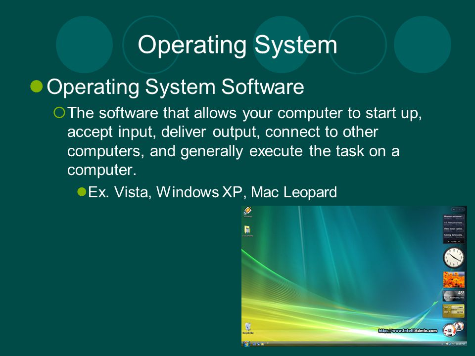 Operating System Operating System Software