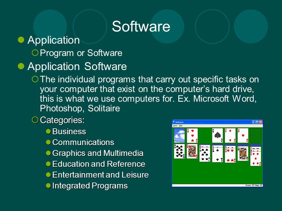 Software Application Application Software Program or Software