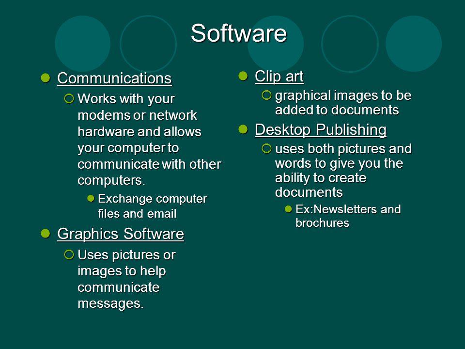 Software Communications Graphics Software Clip art Desktop Publishing
